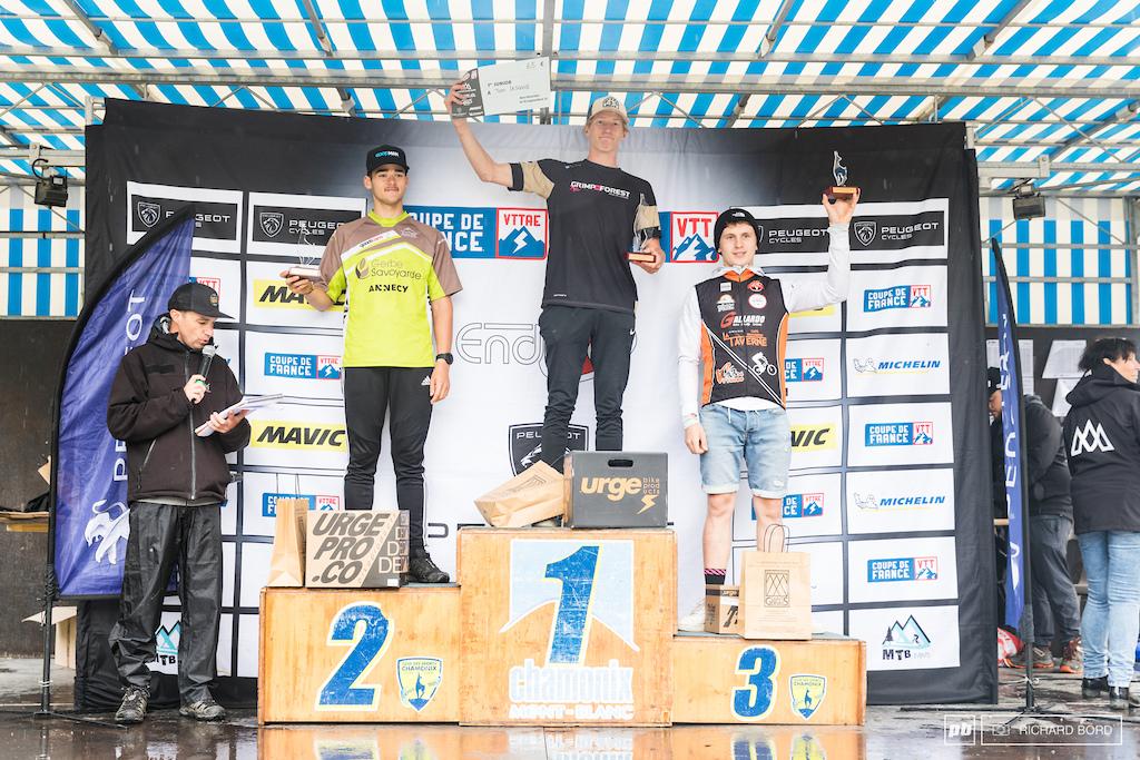 Junior Men podium of the week-end.