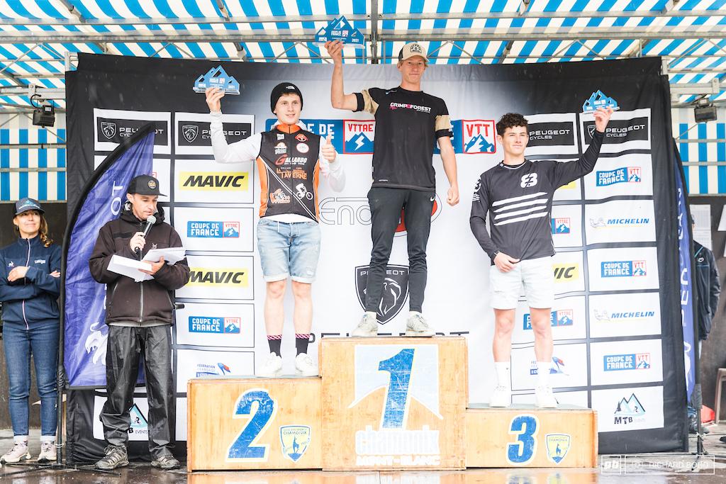 Junior Men podium of the Enduro Series 2021 season.
