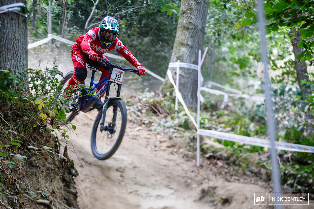 Mr Perfect Roger Vieira making it three wins from three in the HSBC National Downhill Series and wrapping up the over win for the series with one more round to go