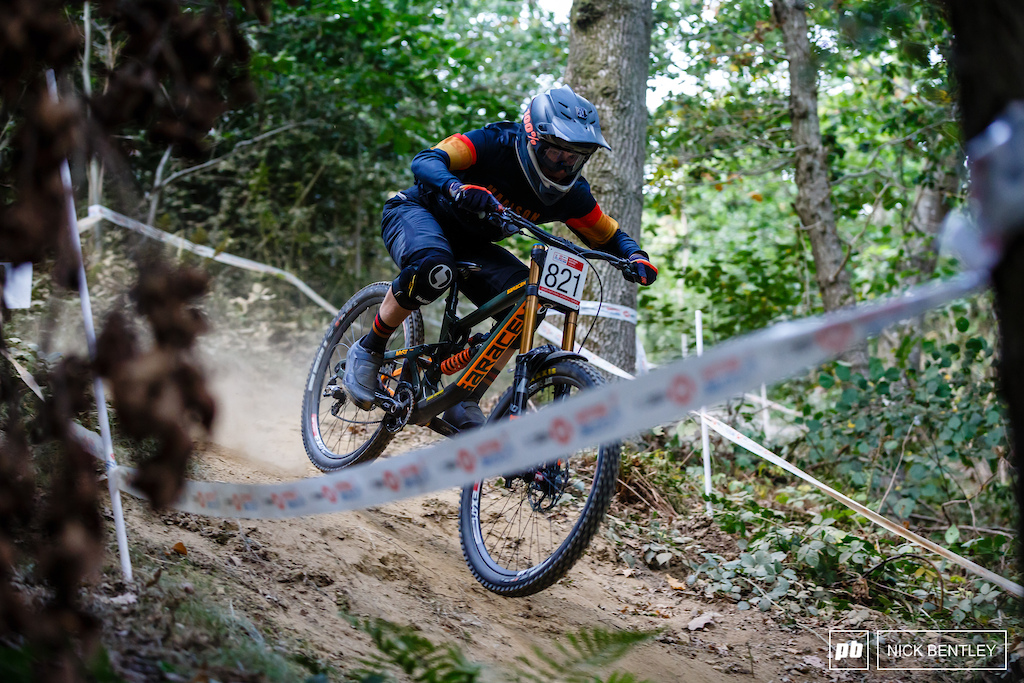 Josh Lancett-Edwards keeping it pinned through the woods