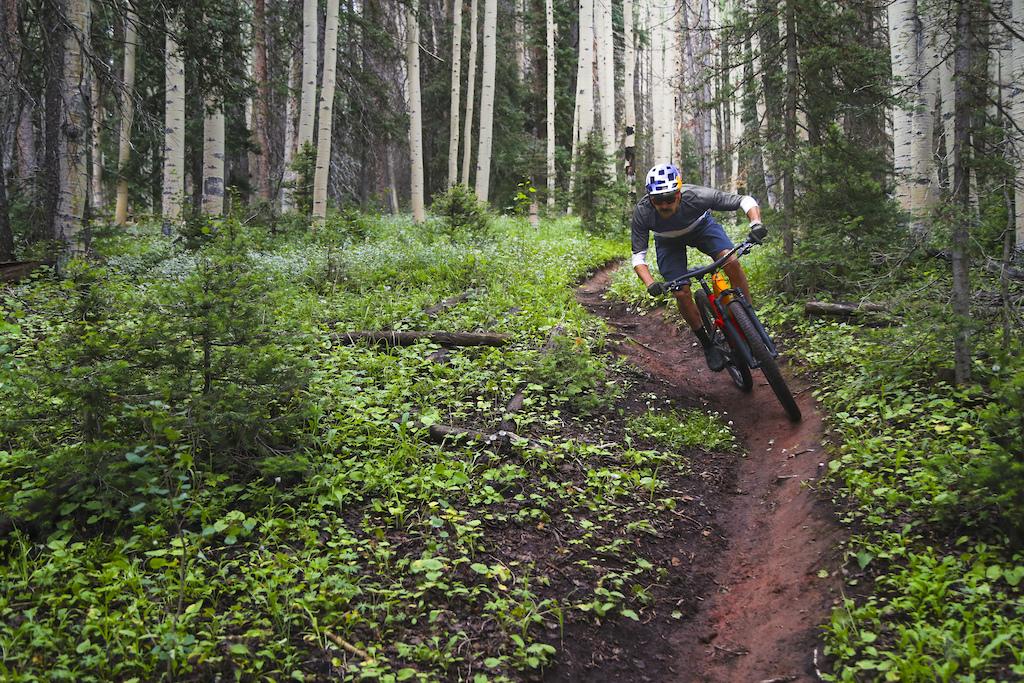 Payson McElveen on the new Trek Top Fuel in Durango