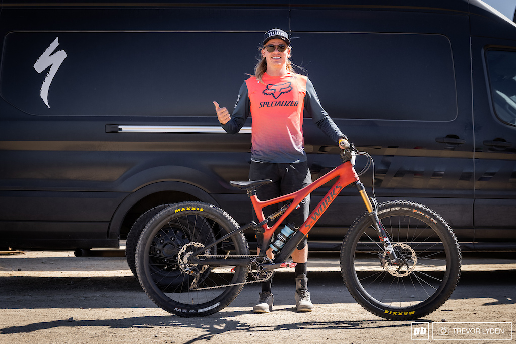 Cody Kelley and his Specialized S-Works Stumpjumper custom set up for dual slalom.