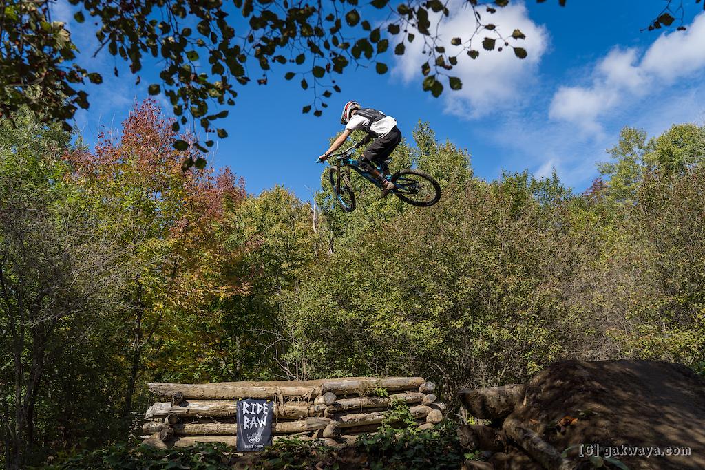 Air DH Whip-Off and Best Trick durant le Marmota Fest 2021. Quebec City Mountain Biking. Rider Kilian Lebris