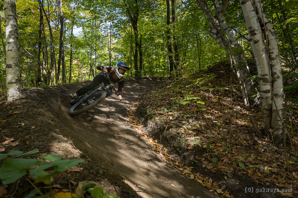 Air DH Whip-Off and Best Trick durant le Marmota Fest 2021. Quebec City Mountain Biking. Rider Sean Hughes.