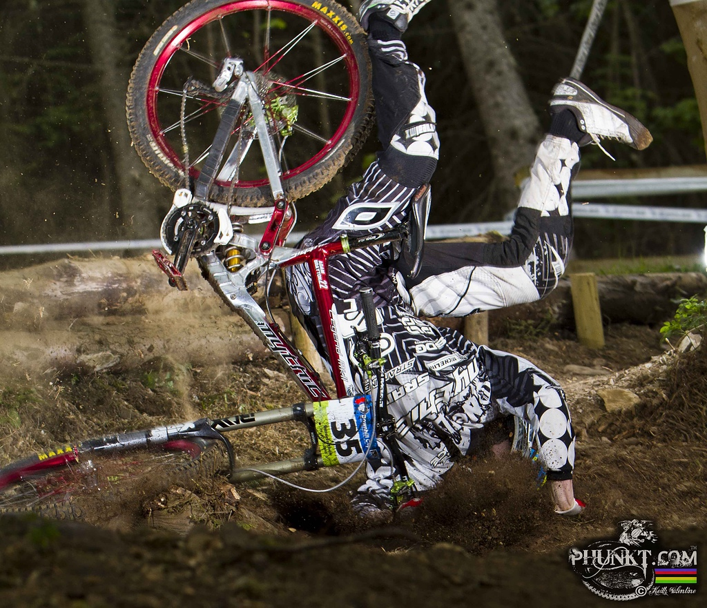 Brayton eating dirt at the IXS cup earlier this year.