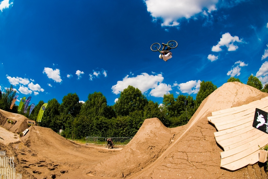 Frontflip on the last jump at Big in Bavaria, 2010