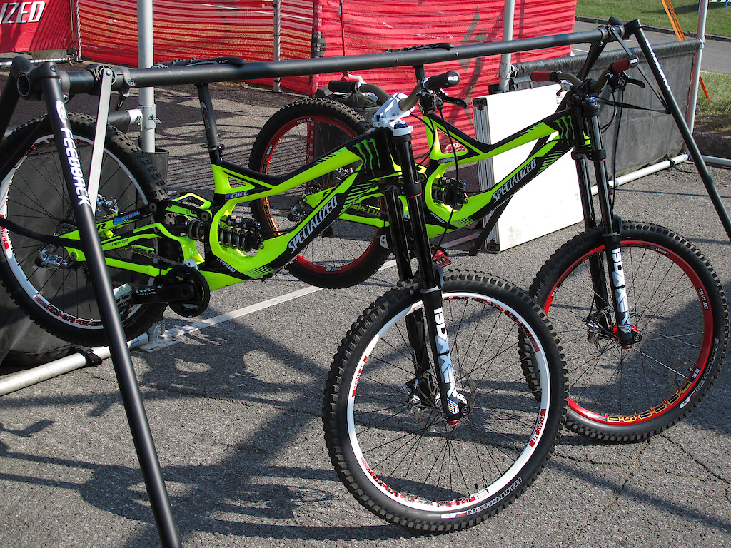 Lean, mean, green machines for Sam Hill and Brendan Fairclough.