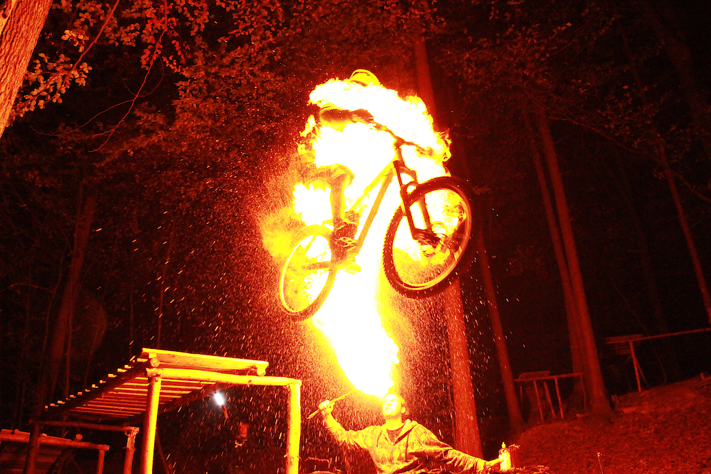 Fire-breathing in the night