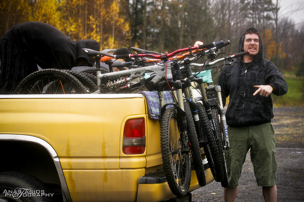 Unloading the pickup