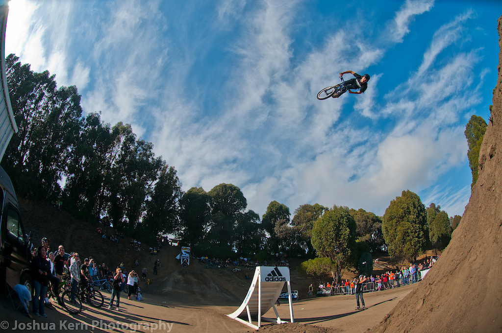 The only one to cork flip the 35! Here he is giving us a look while pulling a massive trick on a massive jump!