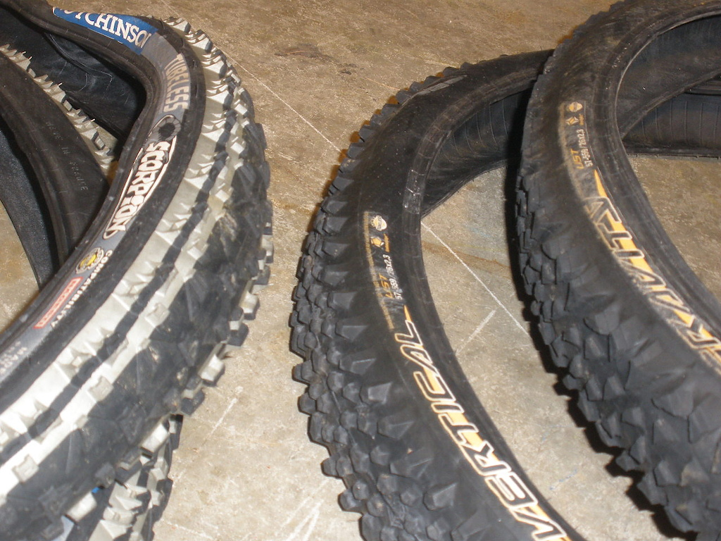 """4-26"""" X/c tires for sale...all four $75"""