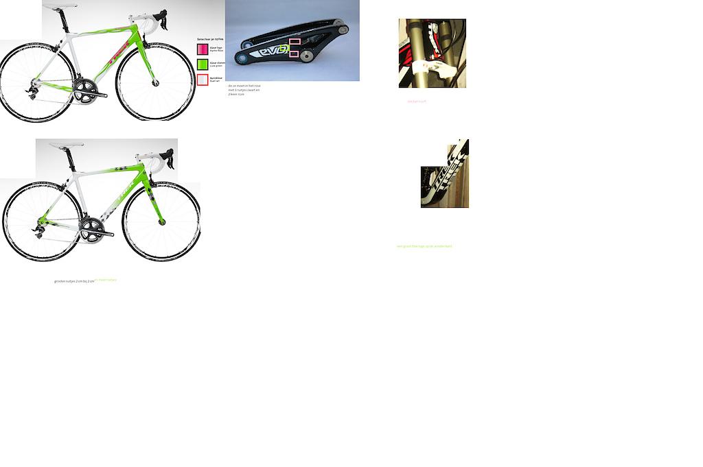 custom made bike scratch paint to dis colors, evo pink