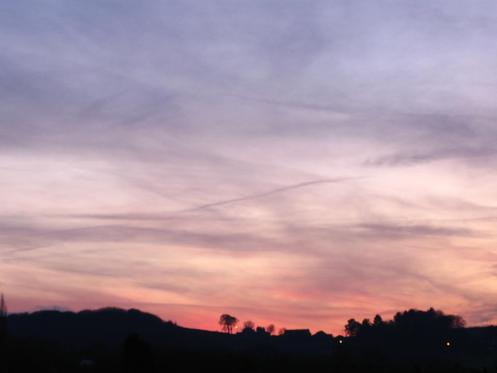 sky was pretty pink