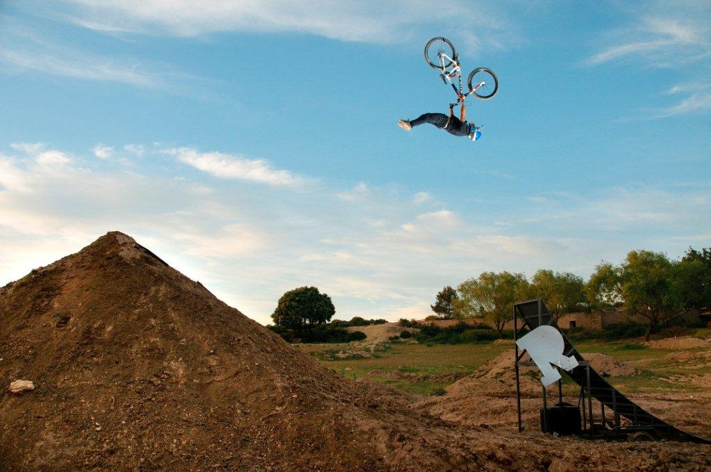 Andreu riding his jumps for we are family 2, huge flip superman - Press photo from the film taken by  Sebas Romero