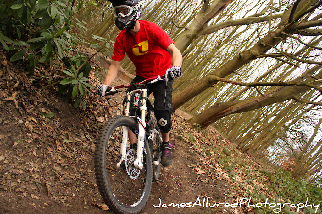 Russ Clark hitting into the berms.