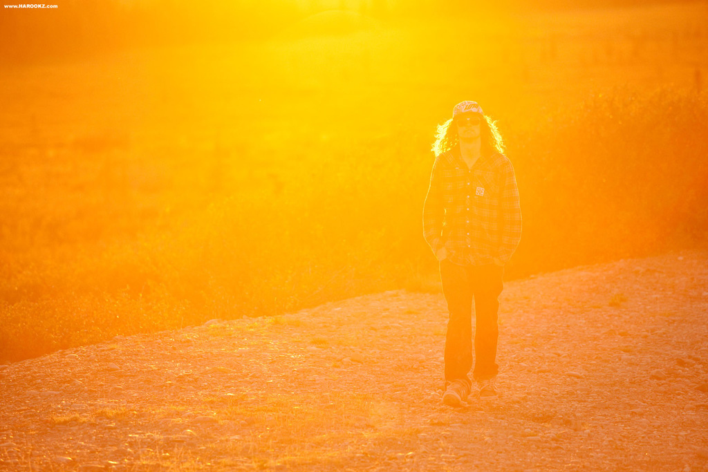 Long hair, backlit... this setting was made for McGazza, shot on the road where Christopher McCandless' journey started.