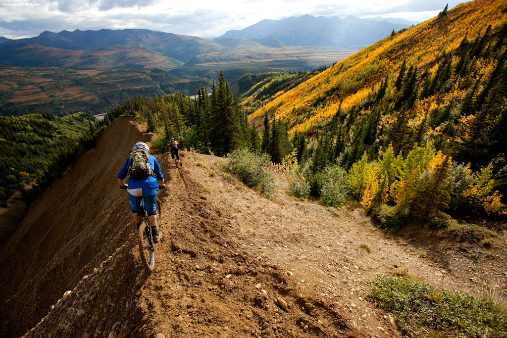 'No Room for Error' - The trail name sums this one up! The fall foliage and exposure on the left put this trail high up on the hit list for a bagful of whoppers.
