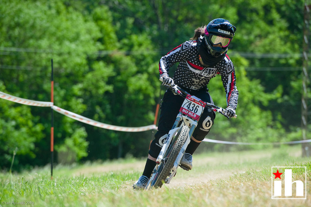 Cierra Smith races at the US Open of Mountain Biking at Diable Freeride Park at Mountain Creek Resort in Vernon, NJ