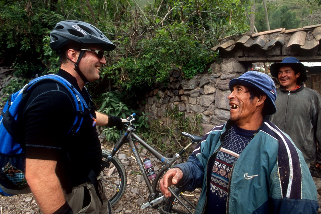 Not much explanation needed. Lou Mazzante shares a slice of life with a local Peruvian on a trail.
