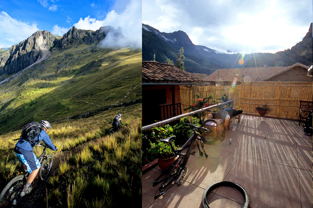 The Sacred Valley in Peru provides stunning descents and vistas. This was the back patio we were able to relax in between adventures. It felt very comfortable and taking in skyline was afternoon exercise.