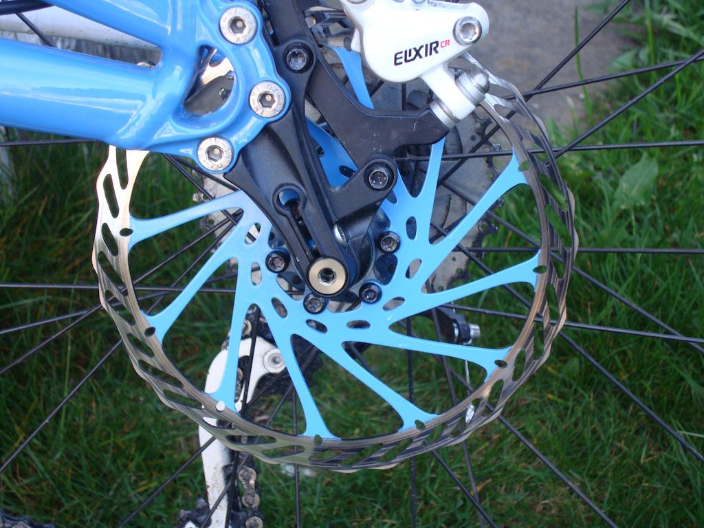 Newly custom painted rotors