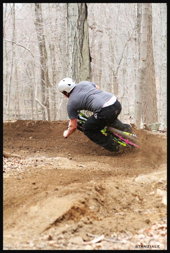 Get some! Exploding the berm on a new Demo 8 with pink i9s