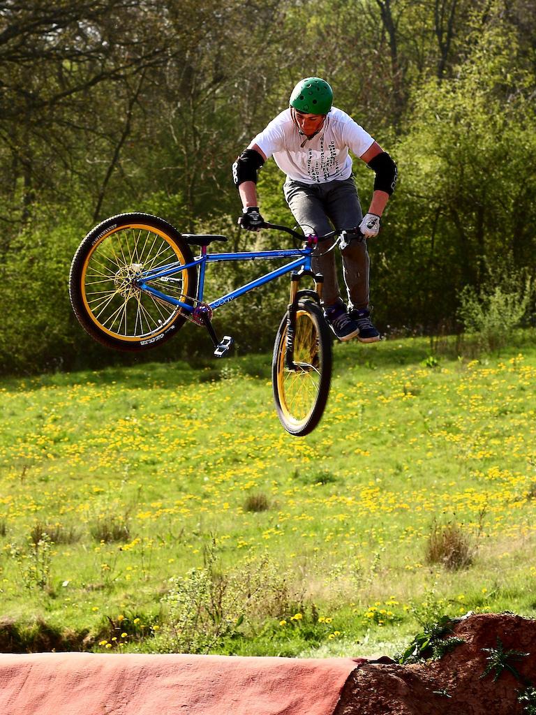 Alfie Stephens - dirt jump Dartmoor UK team member and his Cody. http://www.slam69.co.uk/. http://dartmoor-bikes.com.