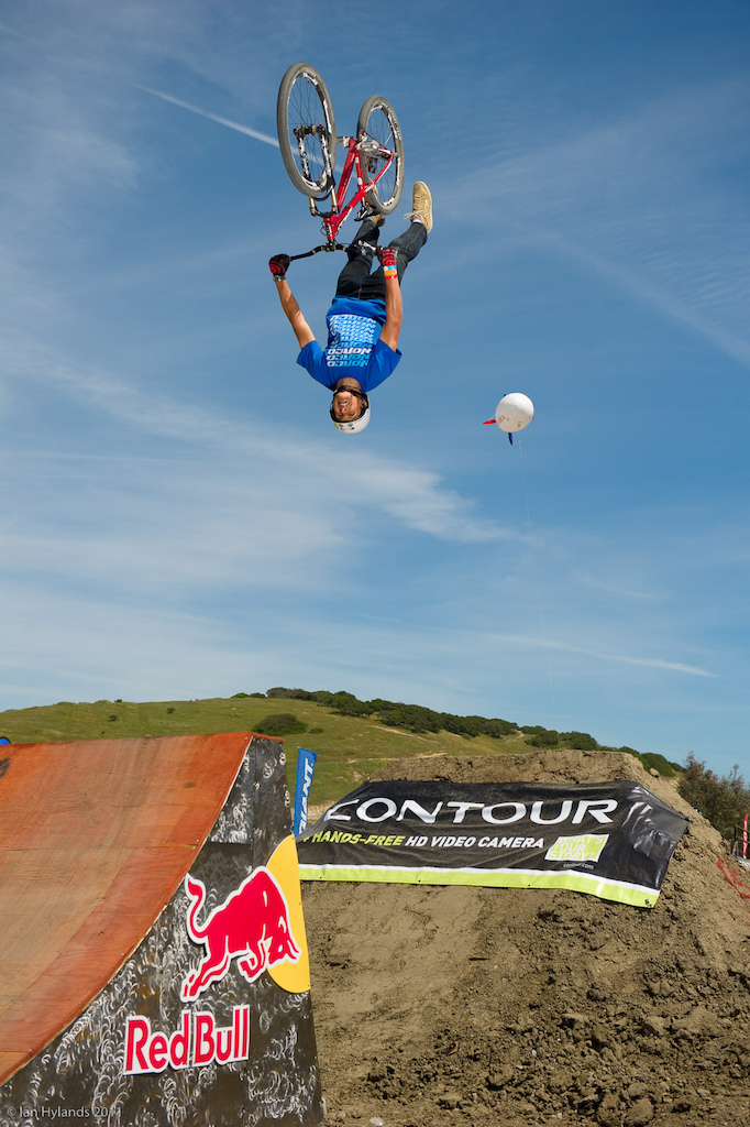 Sam Dueck at the 2011 Sea Otter Jump Jam and Best Whip contest