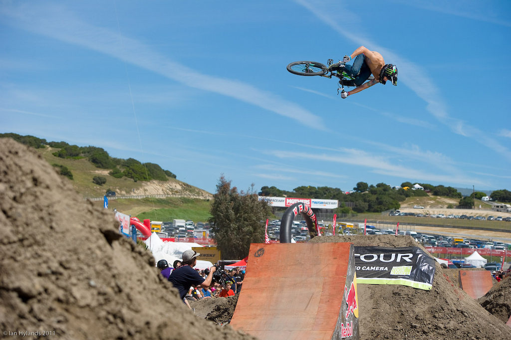 Mike Montgomery at the 2011 Sea Otter Jump Jam and Best Whip contest