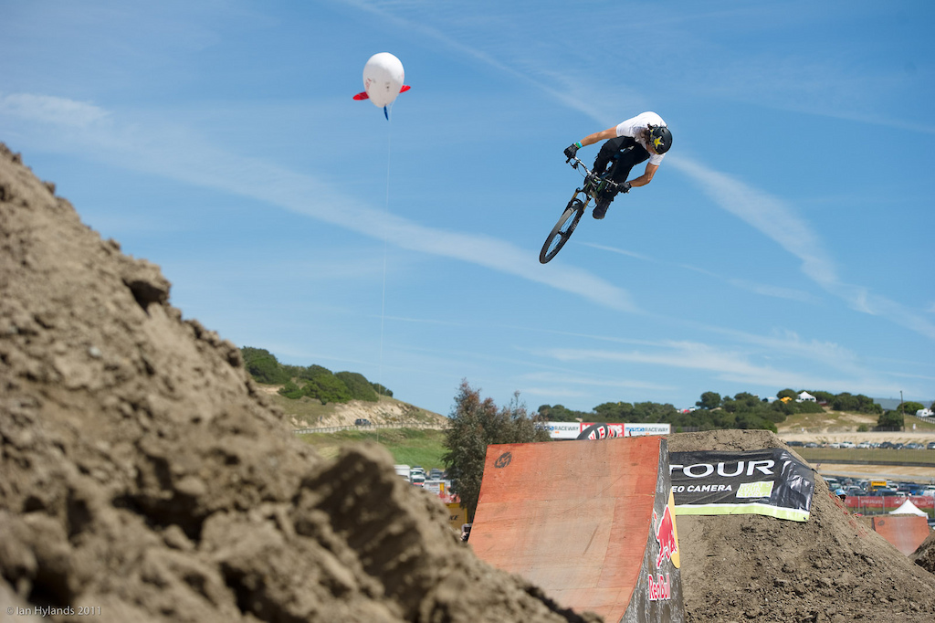 Cam McCaul at the 2011 Sea Otter Jump Jam and Best Whip contest