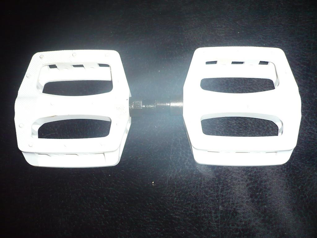 new white espresso pedals