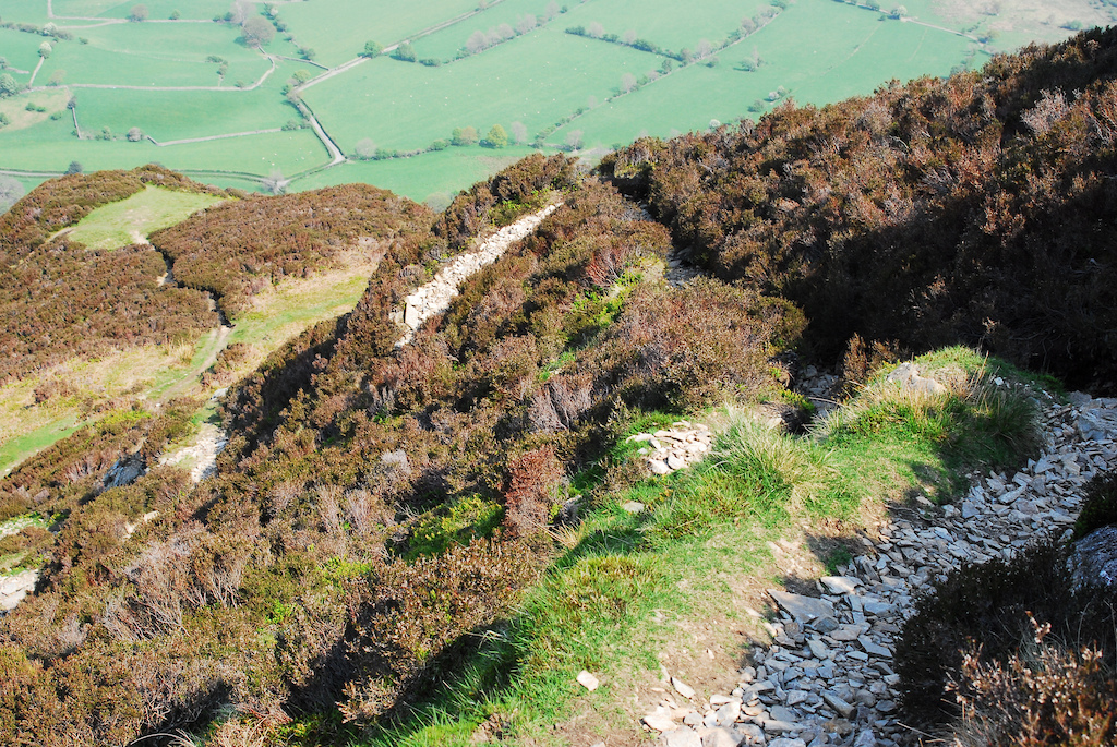 very steep path coming off melbreak