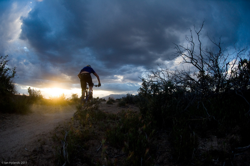 When I'm thinking of favorite photos some of the ones that come to mind first are the ones that have the best memories attached to them. This ride down Jem trail in southern Utah was absolutely epic, 100% pinned, trying to beat the light and finishing up almost in total darkness. Kelly McGarry races the sun...