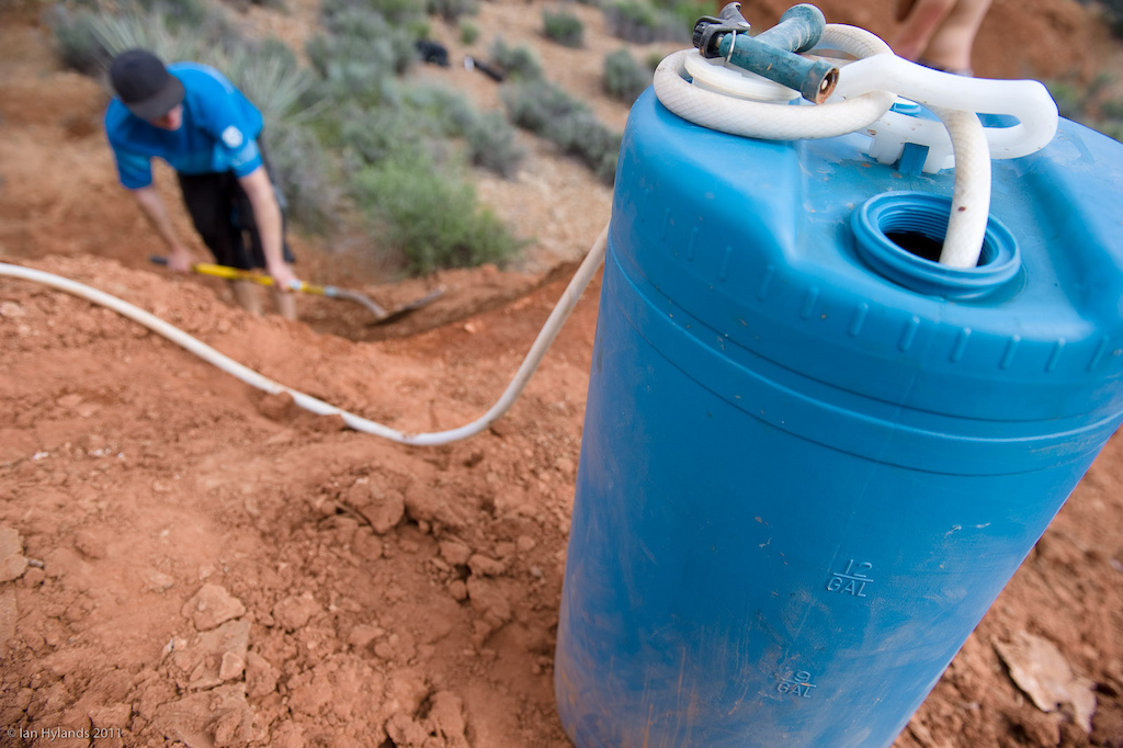 The Ranger also made it a lot easier to bring water to the desert. Billy Lewis shapes a lip for Kelly and Eric with a little help from 15 gallons of H2O.