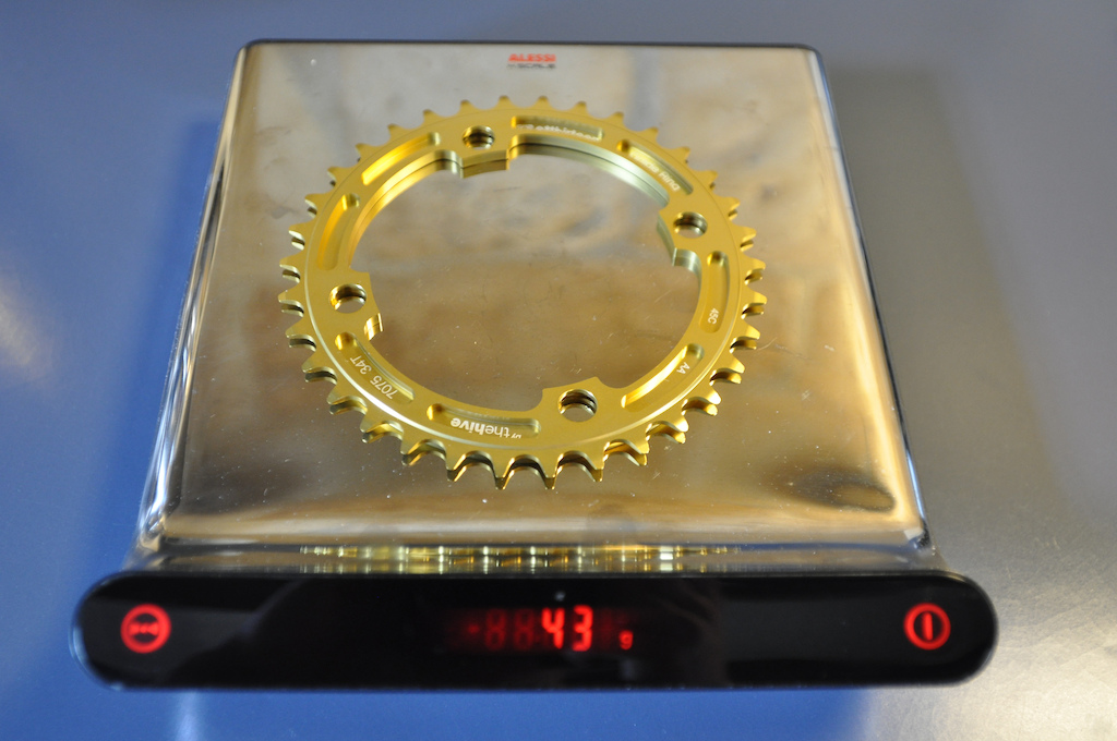 e13 Chainring gold 34T weight