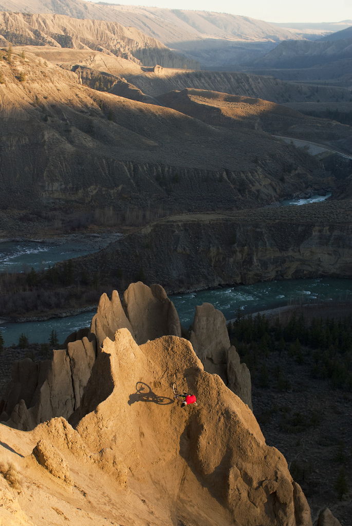 Times stands still in this shot as Doerfling becomes stalled in mid air at the top of this Hoodoo..