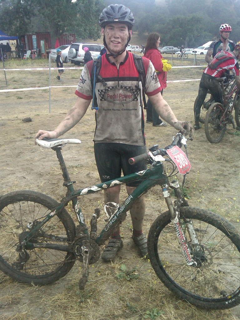After the race... Super muddy out there