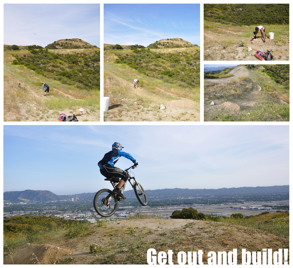 Someone bulldozed the Burbank Jumps, it used to be a great spot. Maybe we're stubborn, but we're rebuilding and riding it. If you live in the area come out and help out!