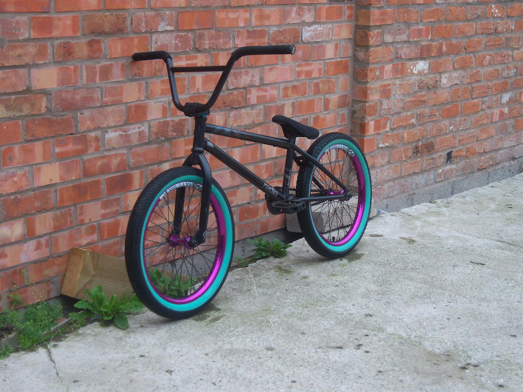 my bike with teal walls