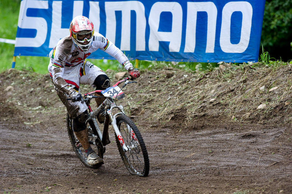 Tomas Slavik after his crash near the start of the 4X during qualifying.