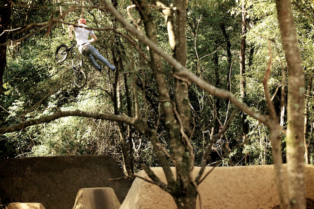 Josh introduced us to Ben at the trails, he was riding great all day, and you can see alot of Josh's style in Ben.  Photo: Raine Turnbull