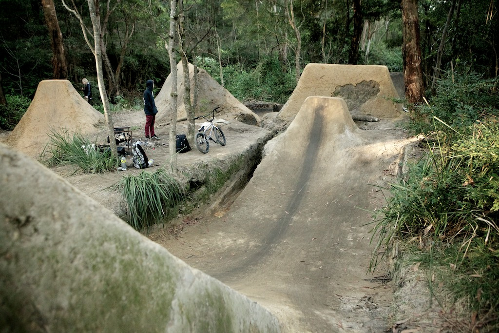 Unit BMX rider Josh Stead takes alot of pride in his trails, and the results are obvious.   Photo: Raine Turnbull