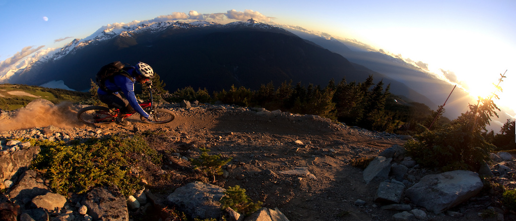Richie showed me this awesome spot in whistler one minute before the sun disapper. thanks buddy