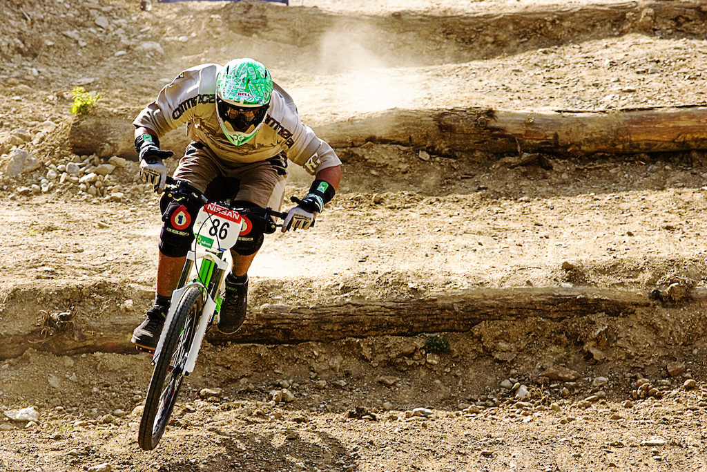 the Crazy Frenchman aka Dirty Sanchez hit the 4X course in Maribor