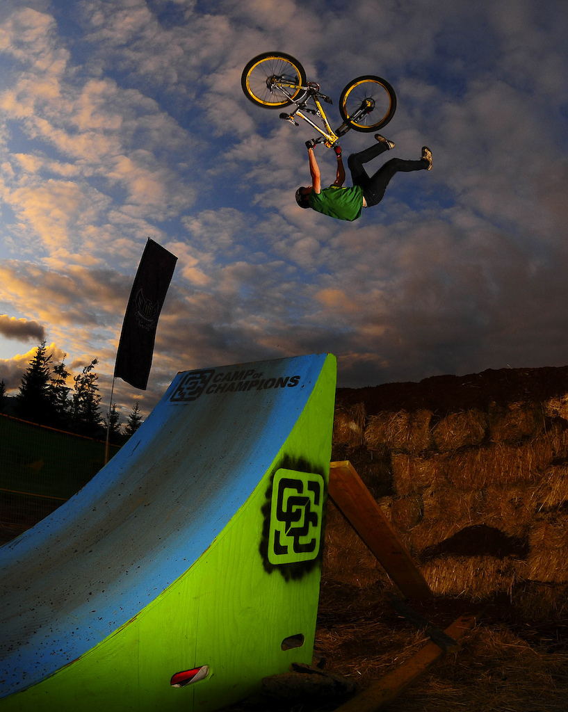 The Compound at The Camp of Champions, is our private training zone. It has a Big Air Bag a multitude of wood jumps, landings, jump lines,  and an amazing mulch pit.  Get coached by top pros like Mike Montgomery, Greg Watts, Fogel, Brendan Howey, Justin Wyper, Casey Groves and many more. This is where you want to be riding this summer.