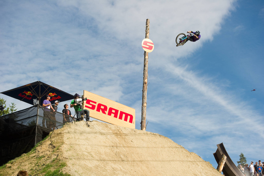 Anthony Messere jumps during the Red Bull Joyride event in Whistler BC on July 23, 2011