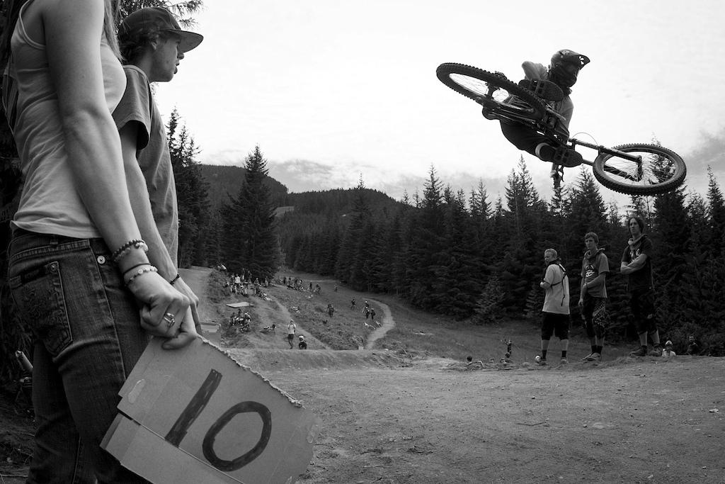 whip contest on crabapple hits whistler bike park during crankworx 2011.