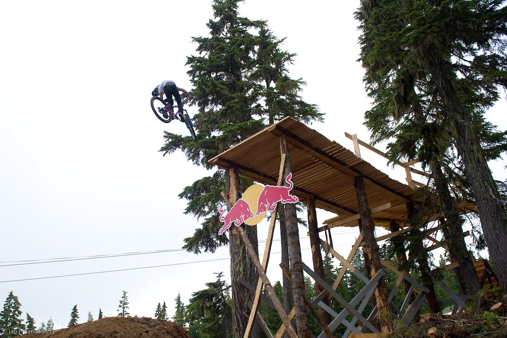 Anthony second 360 off the drop. This one was pretty dialed and just a little bit over rotated no problem for the kid.