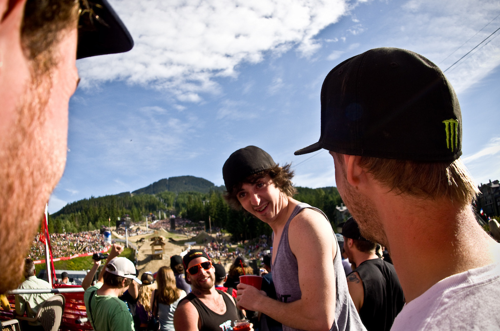 Danny Hart is one of our favorites and its reactions like this that make it I think he just realized how gnarly slopestyle is He s invested. Watch out for Mr. Hart stepping on to the box at the next real WC course.