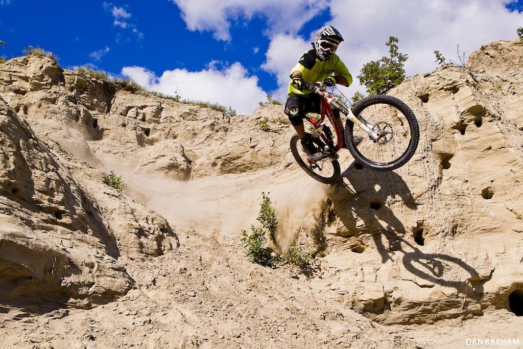 Dry dusty and steep - who knew Whitehorse had its own mini Rampage site Dan Barham photo - www.danbarham.com